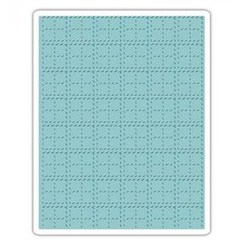 Prägefolder Embossing Folder: Tim Holtz, Stitched Plaid