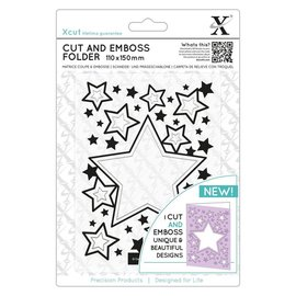 Docrafts / X-Cut Stamping template and pre-template in one: stars, A5 format!