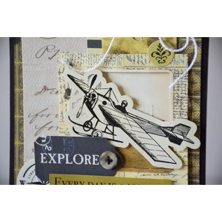 Carta Bella und Echo Park Clear Stempel: Schrift, Transatlantic Travel