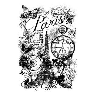 Carta Bella und Echo Park Clear Stempel: Paris Collage