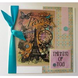 Carta Bella und Echo Park Clear Stamp: Paris Collage