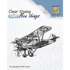 Stempel / Stamp: Transparent timbre clair: Avion