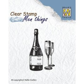 Stempel / Stamp: Transparent Clear stamp: wine tasting