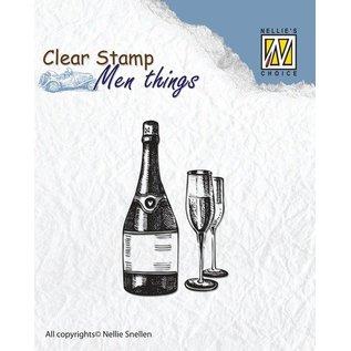Carta Bella und Echo Park Clear stamp: wine tasting