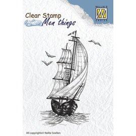 Carta Bella und Echo Park Clear Stempel: Segelboot