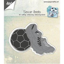 Joy!Crafts / Hobby Solutions Dies Stansning skabelon: Fodboldstøvler