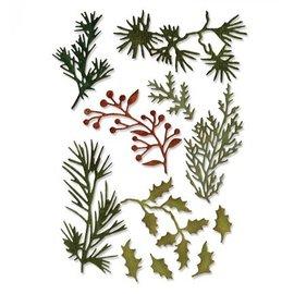 Sizzix Ponsen sjabloon: bladeren en takjes