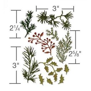 Sizzix Stanzschablone: Blätter und Zweigen