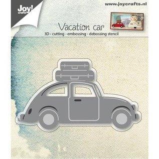 Joy!Crafts / Hobby Solutions Dies Ponsen sjabloon: 3D Car VW met koffers