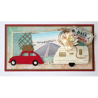 Joy!Crafts / Hobby Solutions Dies Stanzschablone: 3D- Auto VW met koffers