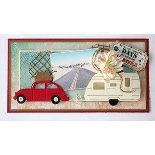 Joy!Crafts / Jeanine´s Art, Hobby Solutions Dies /  Stansning skabelon: 3D Car VW mødte koffers