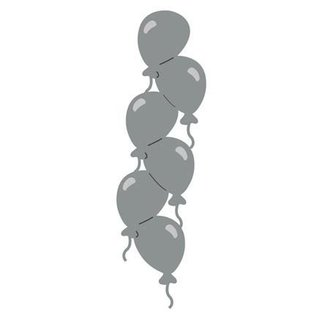 Joy!Crafts / Hobby Solutions Dies Stansning skabelon: Border med balloner