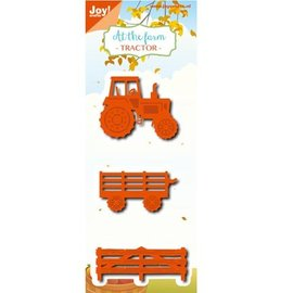 Joy!Crafts / Hobby Solutions Dies Stamping stencils: tractor and accessories
