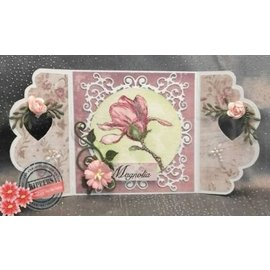 Joy!Crafts / Hobby Solutions Dies modèle POINTAGE: cadre romantique SET: rectangle, Cirkel et coin