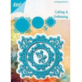 Joy!Crafts / Jeanine´s Art, Hobby Solutions Dies /  Stansning skabelon: romantisk ramme SET: rektangel, Cirkel og hjørne
