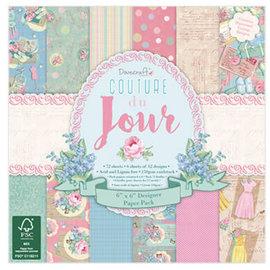 DESIGNER BLÖCKE / DESIGNER PAPER Couture Du Jour - Scrapbooking Paper 15.2 x 15.2 cm, 72 sheets