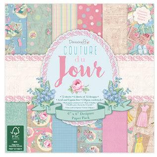 Stempel / Stamp: Transparent Couture Du Jour - Scrapbooking Paper 15.2 x 15.2 cm, 72 sheets