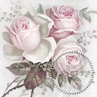 DECOUPAGE AND ACCESSOIRES 4 designer decoupage servietter i vintage stil roser