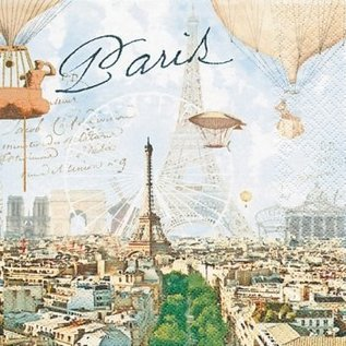 DECOUPAGE AND ACCESSOIRES 4 Designer Decoupage Servietten, Paris