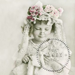 DECOUPAGE AND ACCESSOIRES 4 concepteur assortiment, les filles Decoupage Napkins Vintage