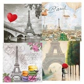 DECOUPAGE AND ACCESSOIRES 4 Designer Decoupage napkins, Paris