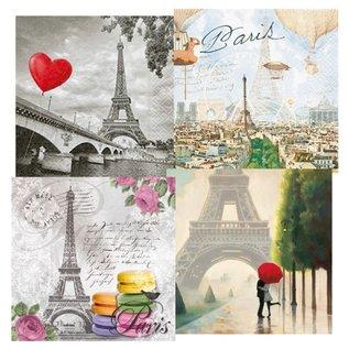DECOUPAGE AND ACCESSOIRES 4 ontwerper decoupage servetten, Paris