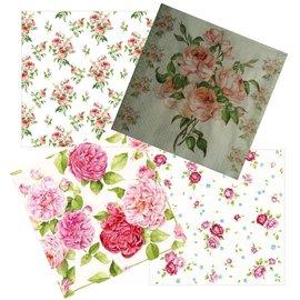 DECOUPAGE AND ACCESSOIRES 4 serviettes design dans un style vintage