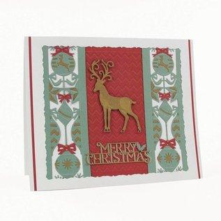 Tonic Skæring dies: dekorative ramme rektangler med julemotiver