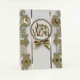Tonic stampi di taglio: rettangoli cornice decorativa con motivi natalizi