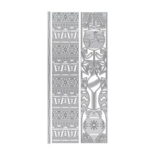 Tonic Stamping stencils: Decorative frames Rectangles with Christmas motifs