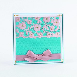 Tonic Stamping stencils: FLOWERING WAVES
