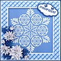 Nellie Snellen Nellie Snellen, ponsen en embossingstencils, Stained Glass Dit - Fantasy bloem 2