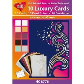 KARTEN und Zubehör / Cards 10 cartões Duplo Luxo com envelopes