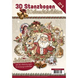 BASTELSETS / CRAFT KITS Die cortar livro 24 3D cortados e 8 wallpapers !!