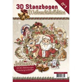 BASTELSETS / CRAFT KITS Stanzbogen Buch mit 24 3D Stanzbogen und 8 Hintergrundbilder!!