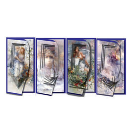 BASTELSETS / CRAFT KITS Set de cartes pour la conception de 4 cartes Piramide
