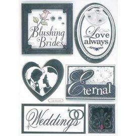 Embellishments / Verzierungen Autocollants 3D, mariage