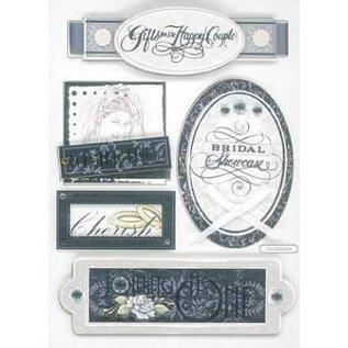 Embellishments / Verzierungen 3D Sticker, Bryllup