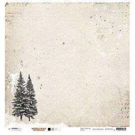 Designer Papier Scrapbooking: 30,5 x 30,5 cm Papier Papel scrapbooking: Woodland Inverno