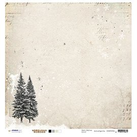 Designer Papier Scrapbooking: 30,5 x 30,5 cm Papier Scrapbooking document: Woodland Winter