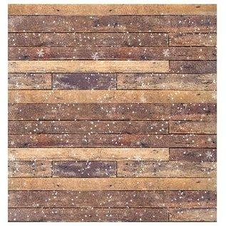 Designer Papier Scrapbooking: 30,5 x 30,5 cm Papier Scrapbooking papier: bois d'hiver