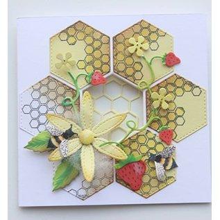 Joy!Crafts / Jeanine´s Art, Hobby Solutions Dies /  Stanzschablonen + Stempel: Bienen