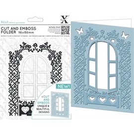 Docrafts / X-Cut stampi taglio: Finestra Cut & Folder rilievo