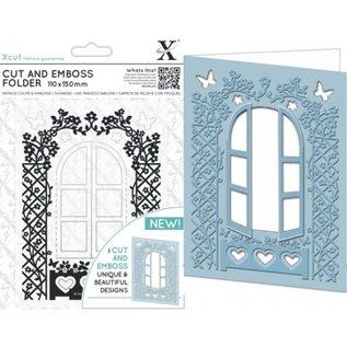 Docrafts / X-Cut Skærematricer: Vindue Cut & Relief Folder