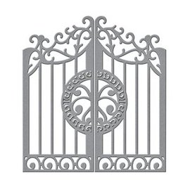 "Spellbinders und Rayher Stamping template: Gate ""Ironclad Gatefold"" large 5,50 cm x 14 cm"