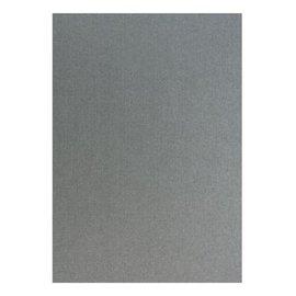 DESIGNER BLÖCKE / DESIGNER PAPER Metallic linen structure in silver