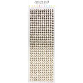 Embellishments / Verzierungen Selvklæbende perler, sten, 6 mm, guld