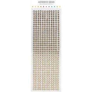 Embellishments / Verzierungen Selbstklebende Perlen, Steinchen, 6 mm, gold