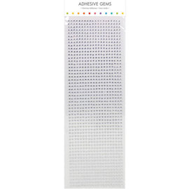 Embellishments / Verzierungen perline autoadesive, pietre, a 3 mm, argento