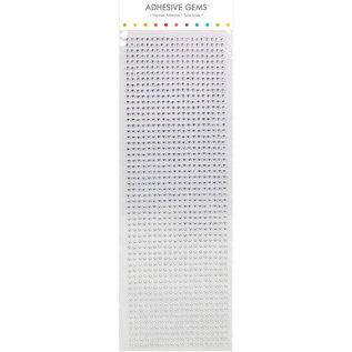 Embellishments / Verzierungen Selvklæbende perler, sten, 3 mm, sølv